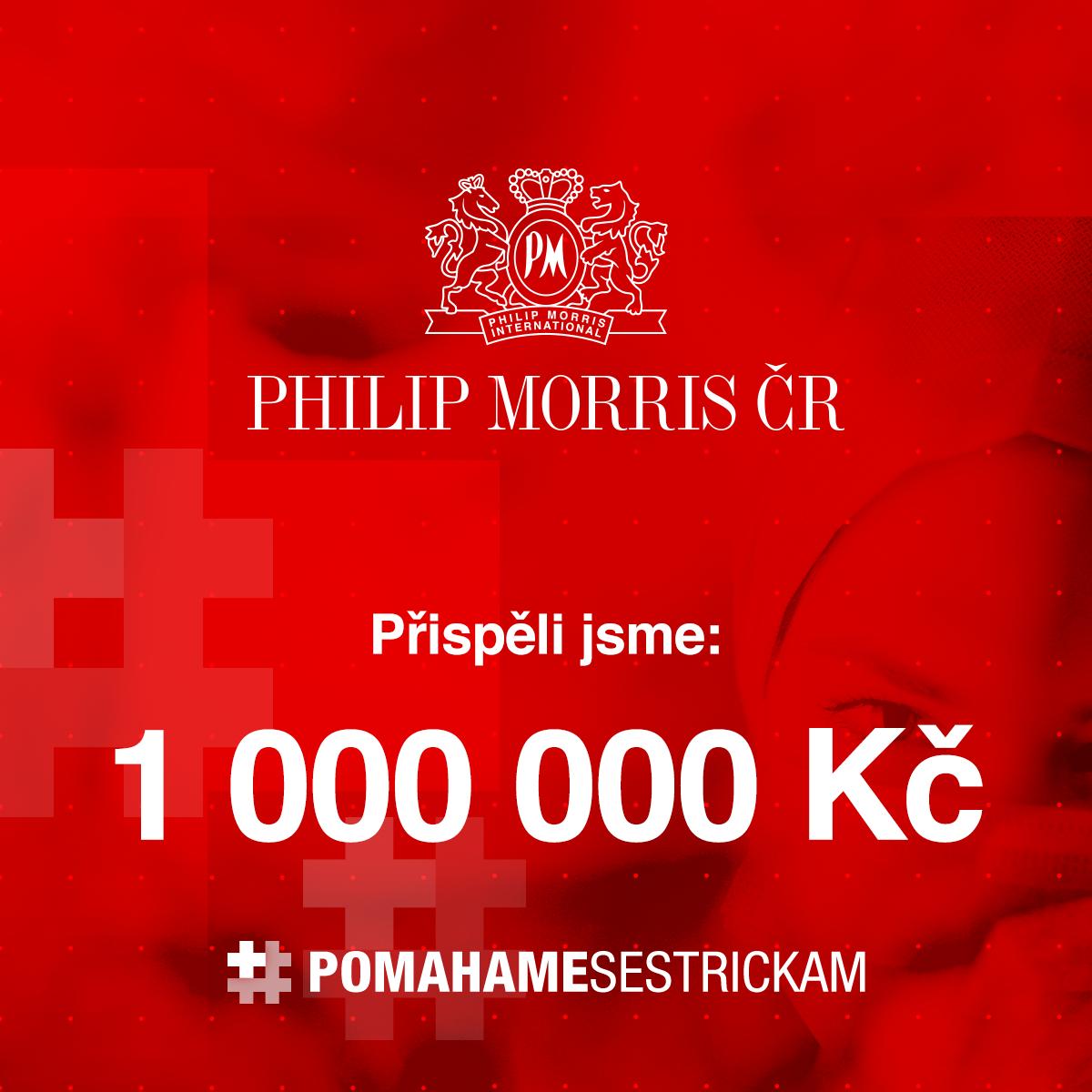 Projektu Pomáháme sestřičkám jsme darovali 1 000 000 Kč.